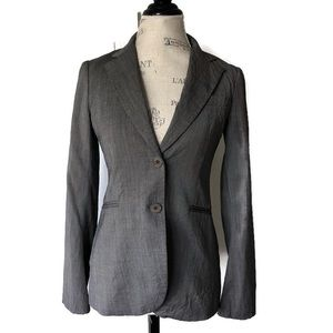 Theory Wool Blazer Double Button Grey